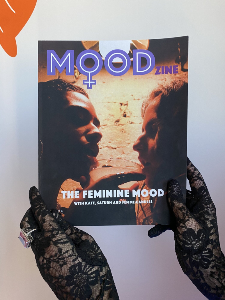 A photo of the cover of MOODzine.