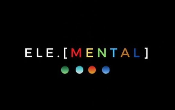The words Ele.[Mental] written in colorful text, with a green, blue, orange and dark blue dots below.