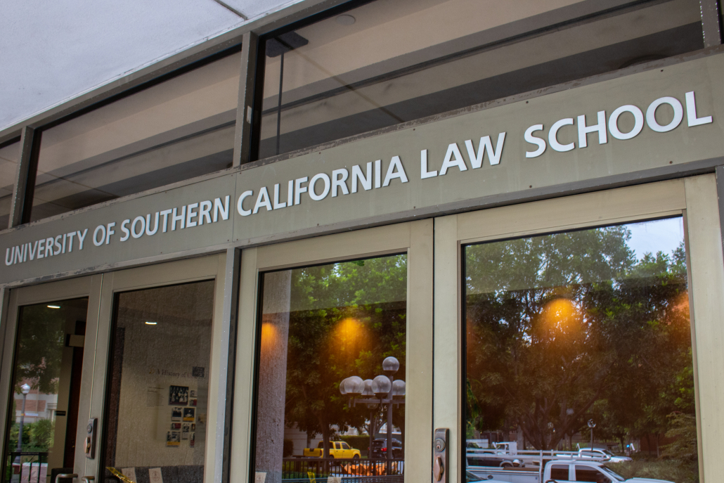 Exterior of the Gould School of Law.