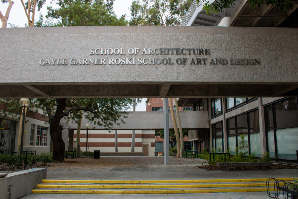 Exterior of the School of Architecture.